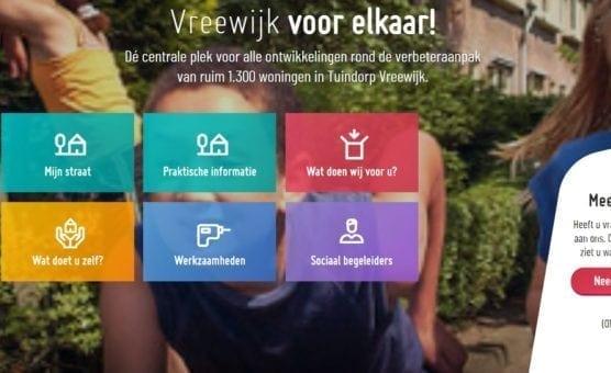 Nieuwe website Vreewijk Verder